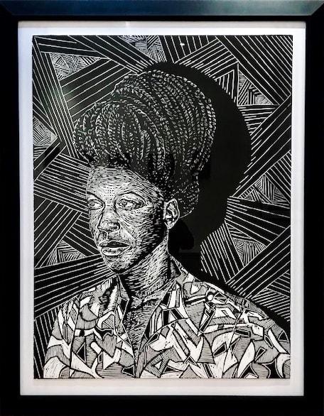 Latoya Hobbs Nzingahusa Lithograph 32 x 42