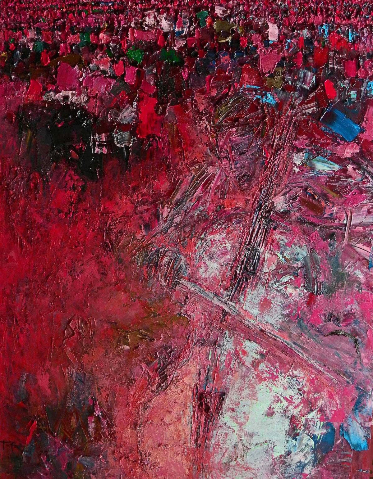 TAFA Yo Yo Ma and Crowd Oil on Canvas 39 x 51
