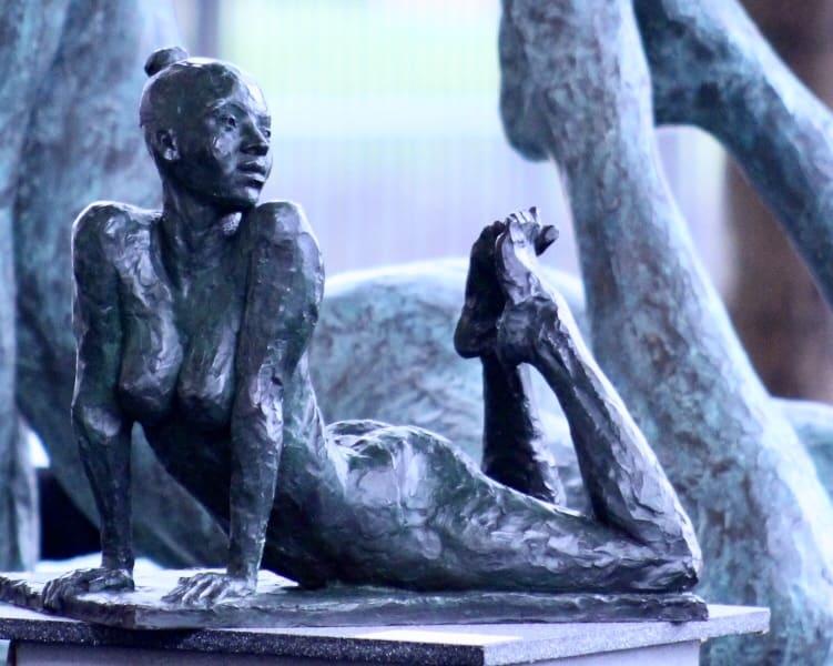 Basil Watson Awakening Bronze 15 x 9 1/2 x 14 1/8