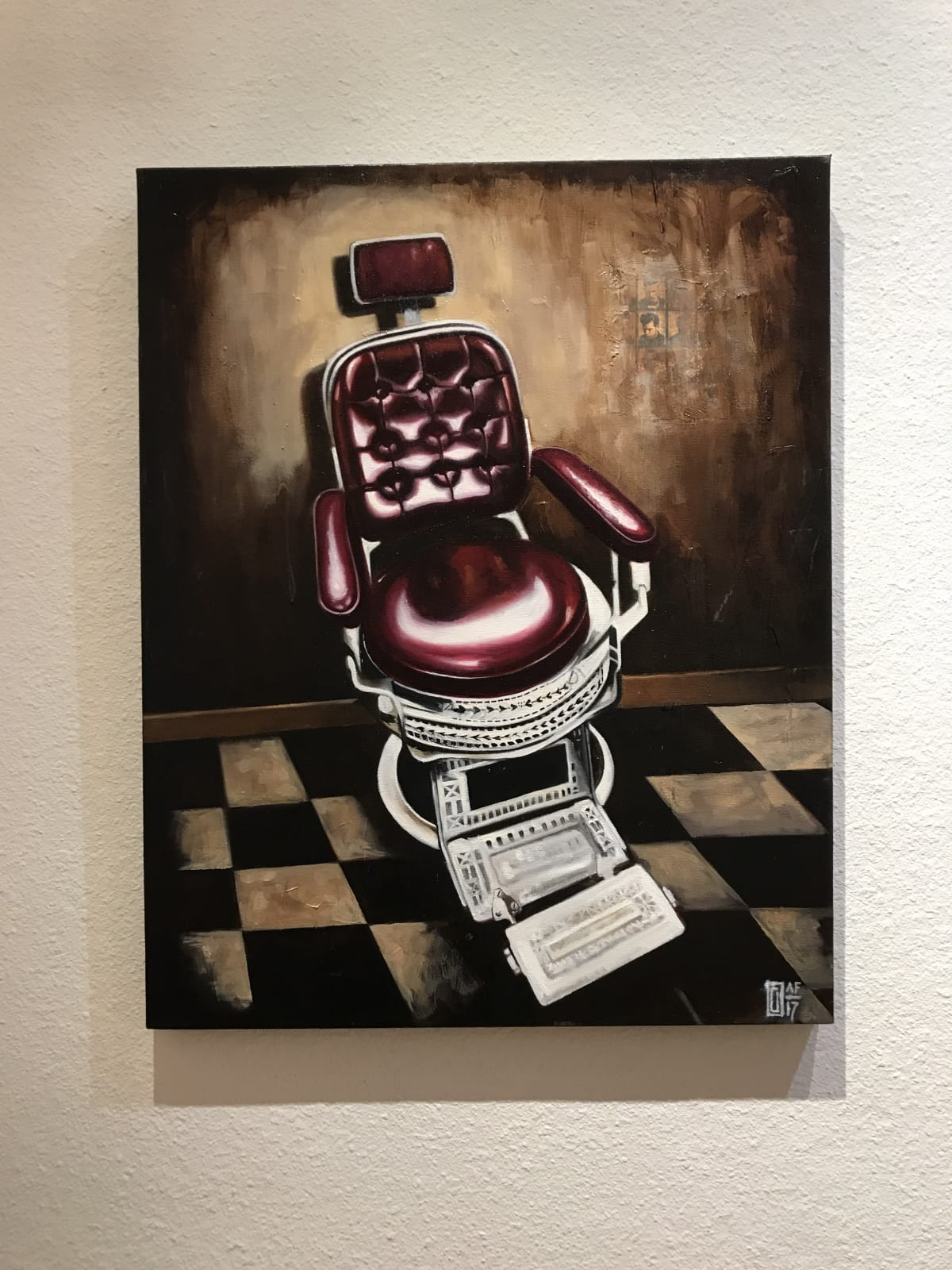 Curtis Gerhardt Therapist Chair Oil on Canvas 24 x 36