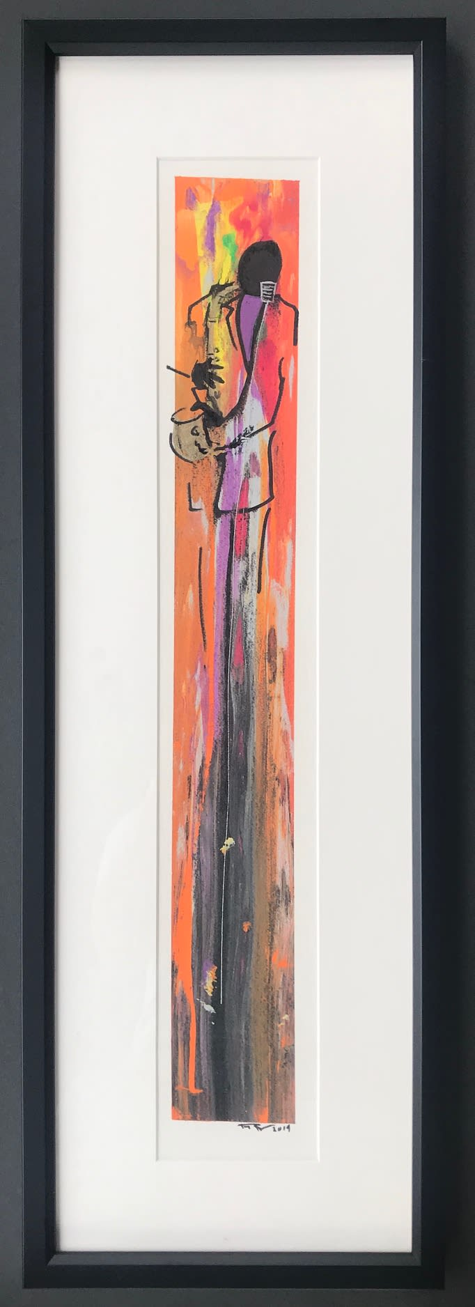 Frank Frazier Jazz Time, 2019 Mixed Media 11 3/4 x 36 3/4