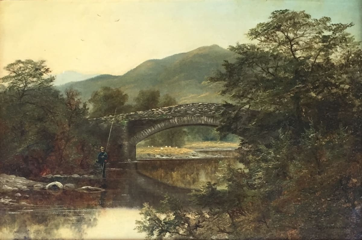 Robert Scott Duncanson Stone Bridge, c. 1870 Oil on Canvas Unframed: 12 x 18