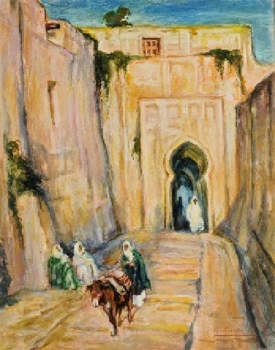 Henry Ossawa Tanner Entrance to the Casbah, c.1912 Gouache on Paper 16 x 13