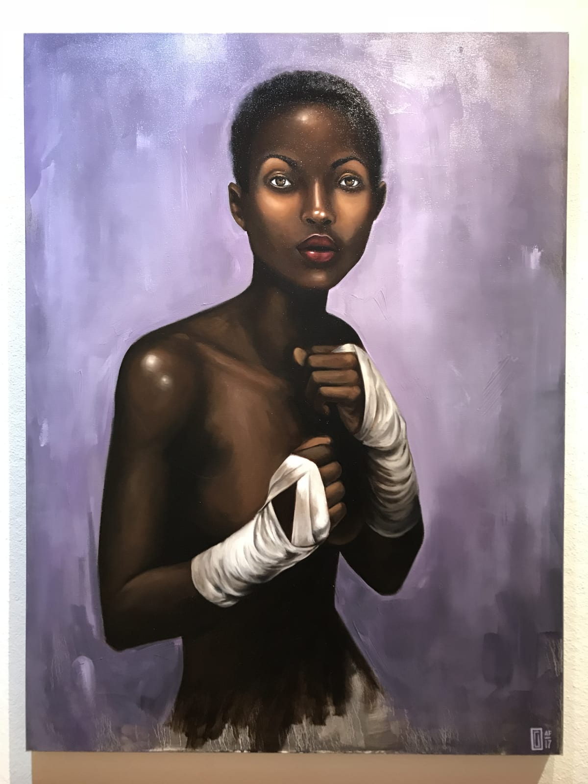 Curtis Gerhardt  Undefeated Southpaw  Oil on Canvas  36 x 48