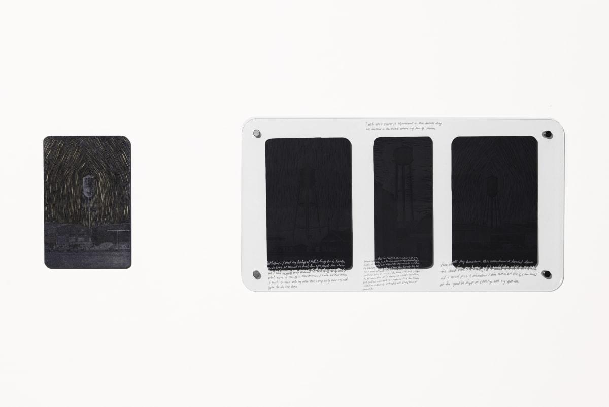 "Jonathan Wright Beacons Laser Engraved Woodcut Matrix: 9 1/2""x 14 1/2"" Framed Print: 19"" x 35 3/4"""