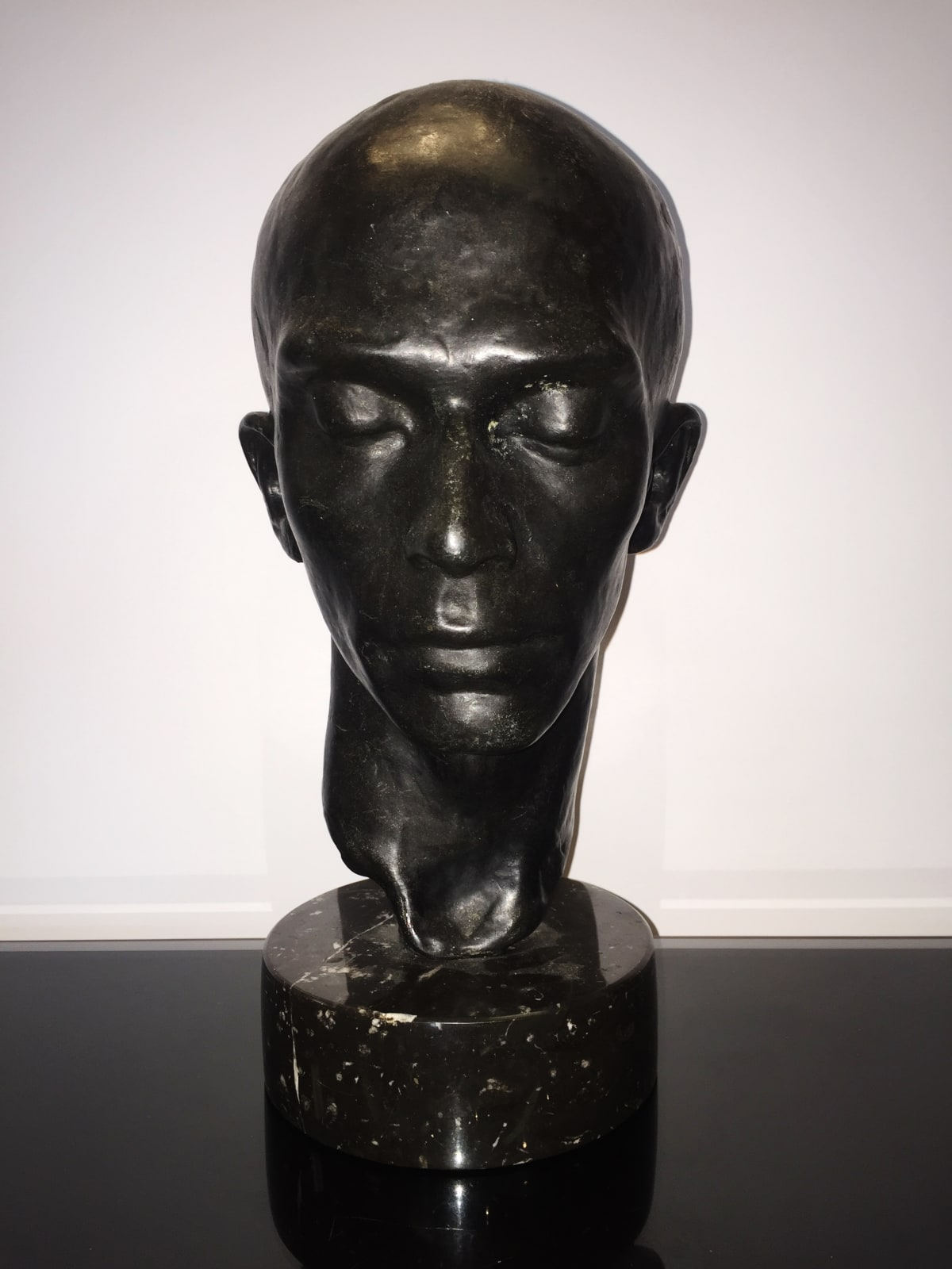 Richmond Barthe Head of a Dancer:Harald Kreutzberg, c. 1933 Bronze 13 x 8 x 6