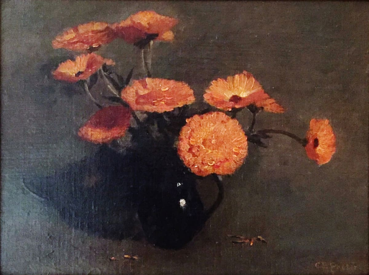 Charles Ethan Porter Orange Carnations, 1891 Oil on Canvas Framed: 18 x 22 x 1 Unframed: 12 x 16