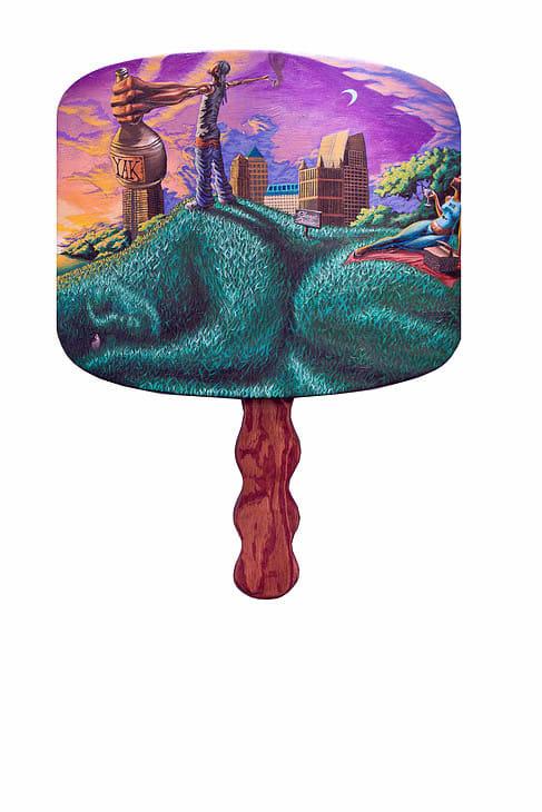 Kevin Cole Awakening Giant Wood Acrylic 32 x 24