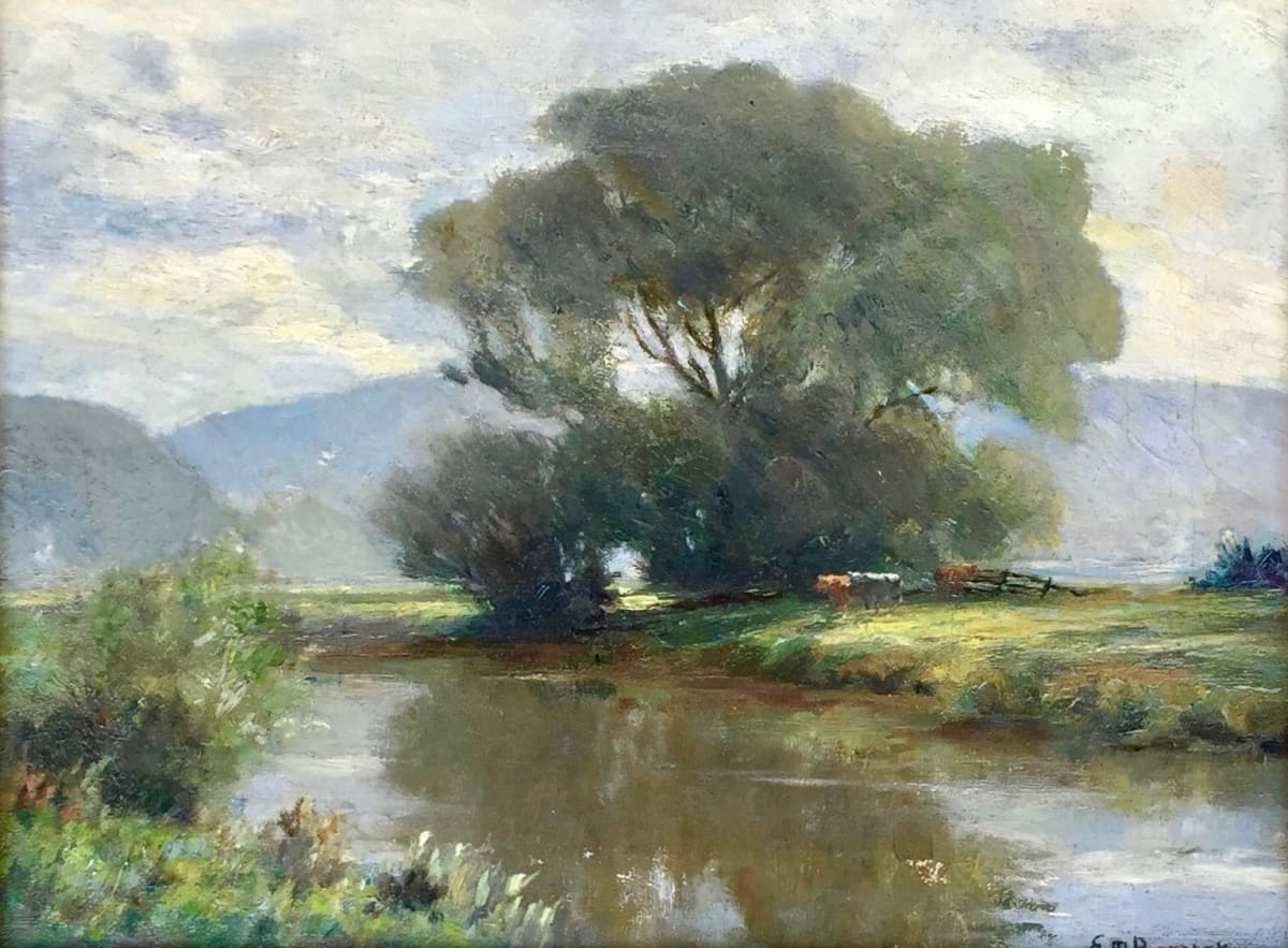 Edward Mitchell Bannister Untitled (Stream and Trees on Right), c.1880 Oil on Canvas Framed: 16 x 20 x 2 Framed: 12 x 16