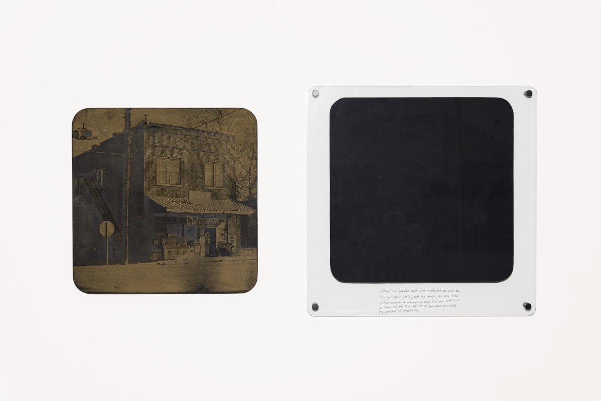 Jonathan Wright Hang Out Spot Laser Engraved Woodcut Matrix: 21 1/2 x 21 1/2