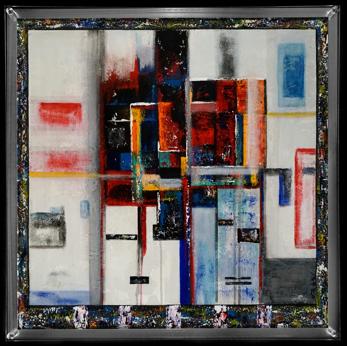 Alvin Roy Totem III Mixed Media Collage 30 x 30