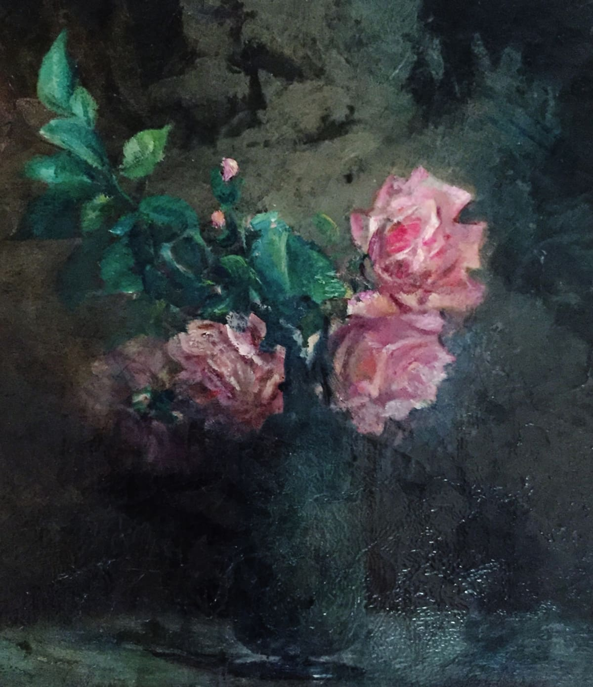 Charles Ethan Porter Untitled, Rose (Unfinished) Oil on Board 12 1/2 x 14