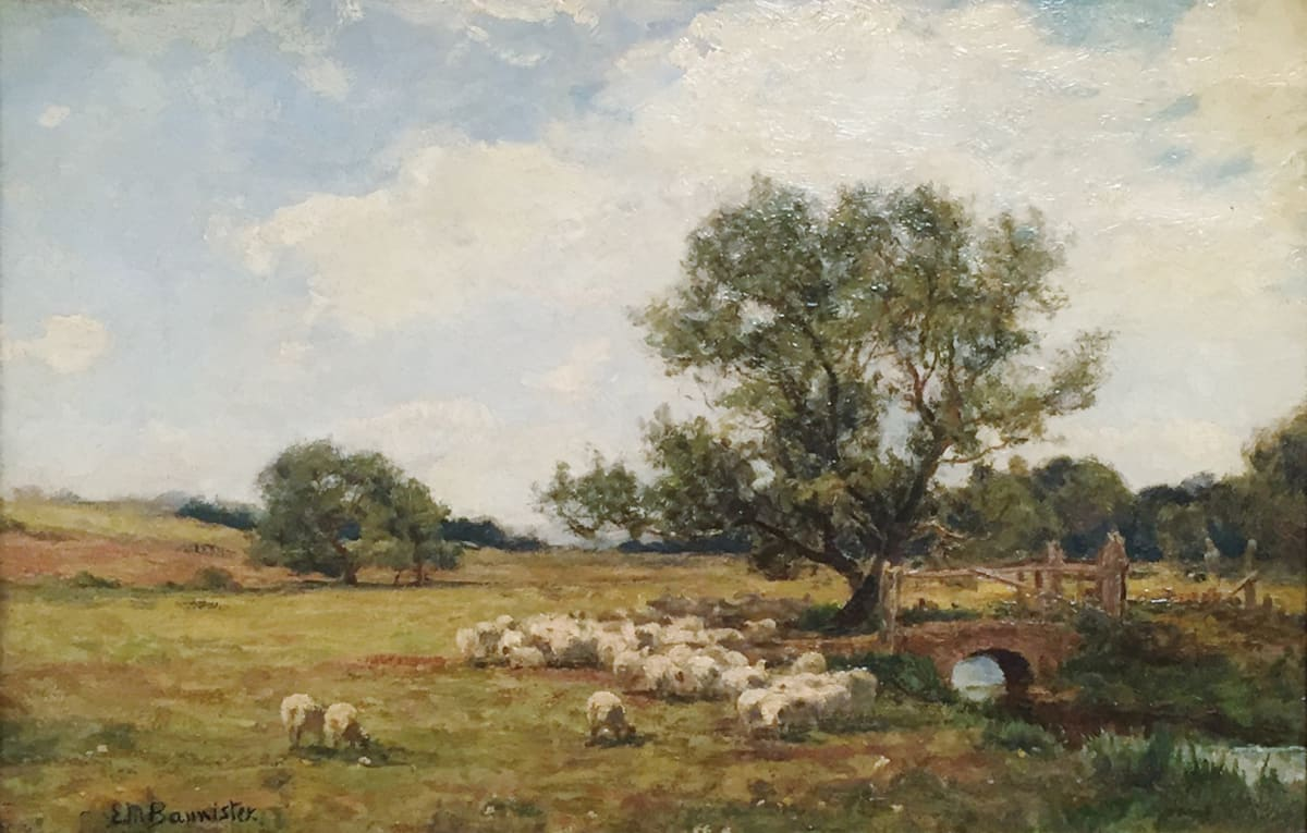 Edward Mitchell Bannister Untitled (Sheep in a Field), 1883 Oil on Canvas 13 x 20