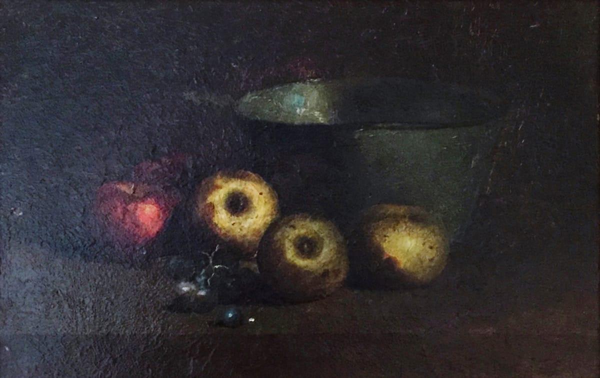 Charles Ethan Porter Untitled (5 Apples beside bowl), c. 1887 Framed: 18 1/2 x 14 1/2 x 2 1/2 Unframed: 14 x 9