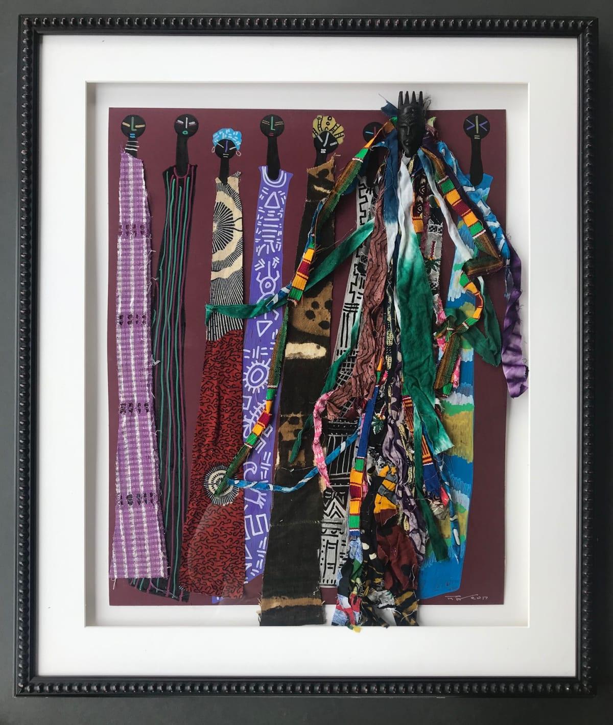 Frank Frazier Zuri (Beautiful), 2017 Mixed Media Collage 26 1/2 x 33 1/2