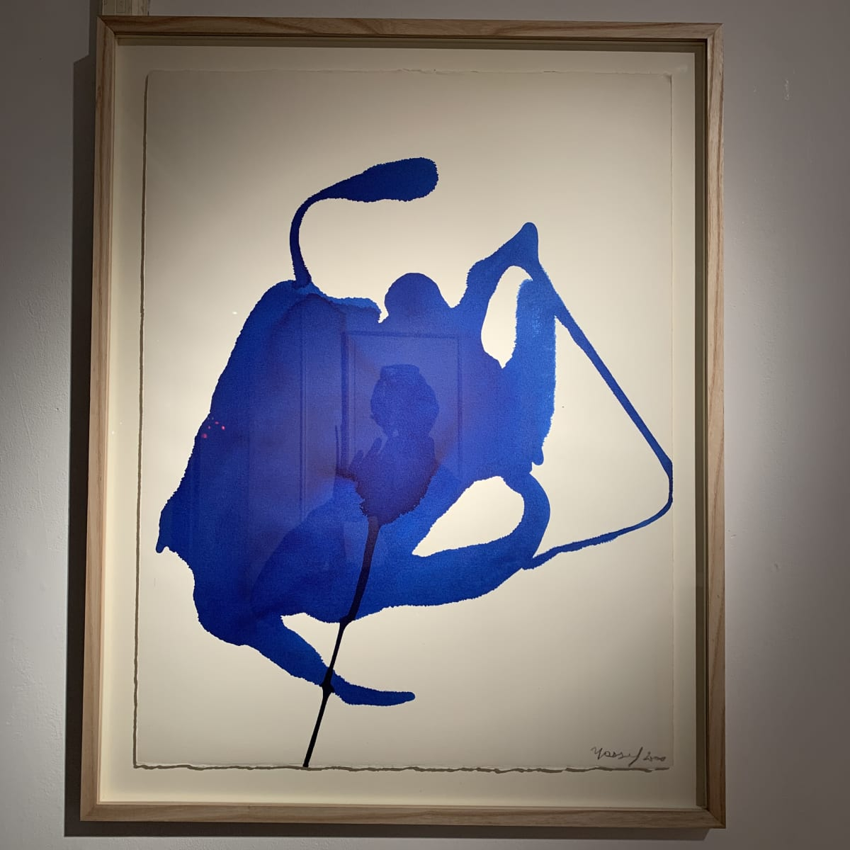 Georges Mathieu Yassef, Blue ink I, 2000