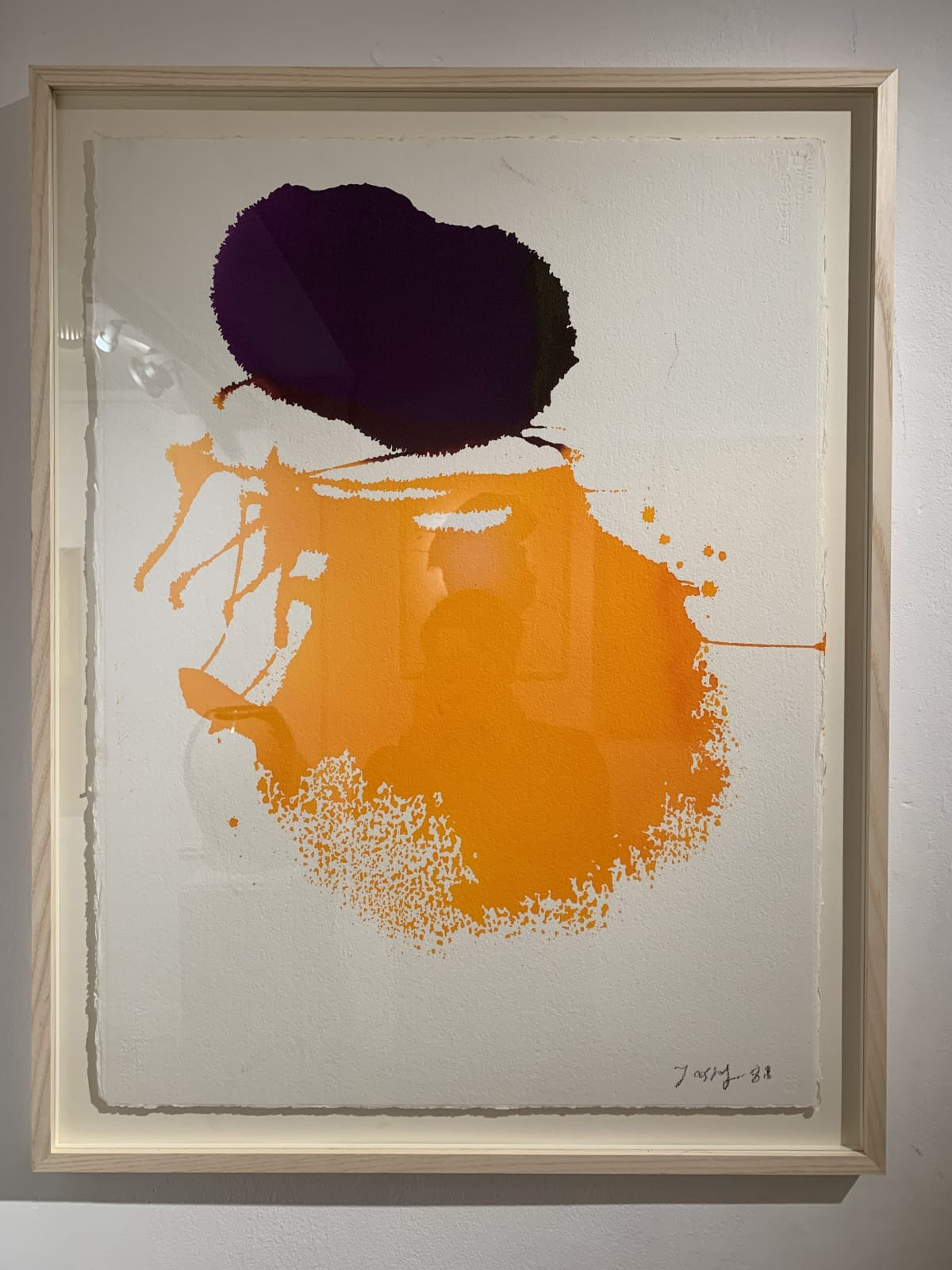 Georges Mathieu Yassef, Yellow and Purple ink, 1988