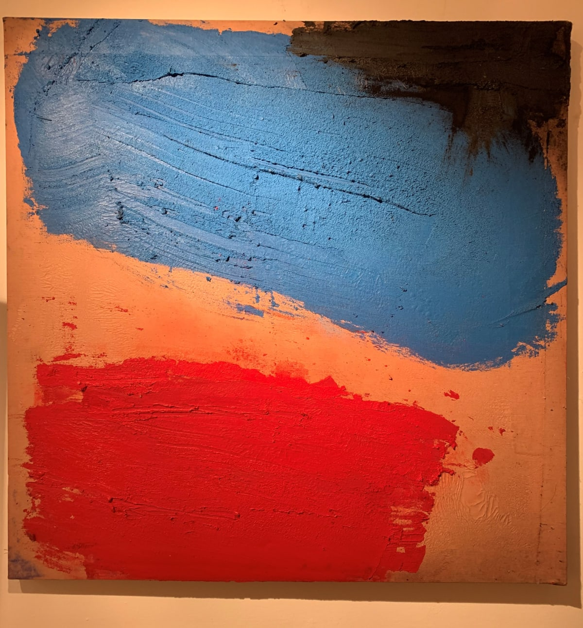 Georges Mathieu Yassef, Blue Red Black , 1986