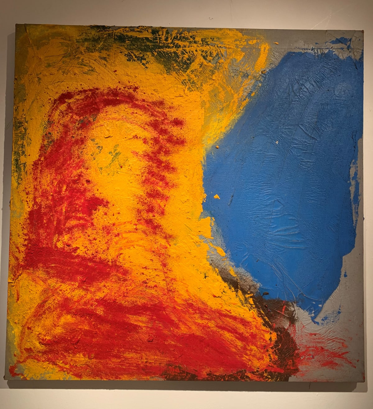 Georges Mathieu Yassef, Blue Red Yellow, 1986