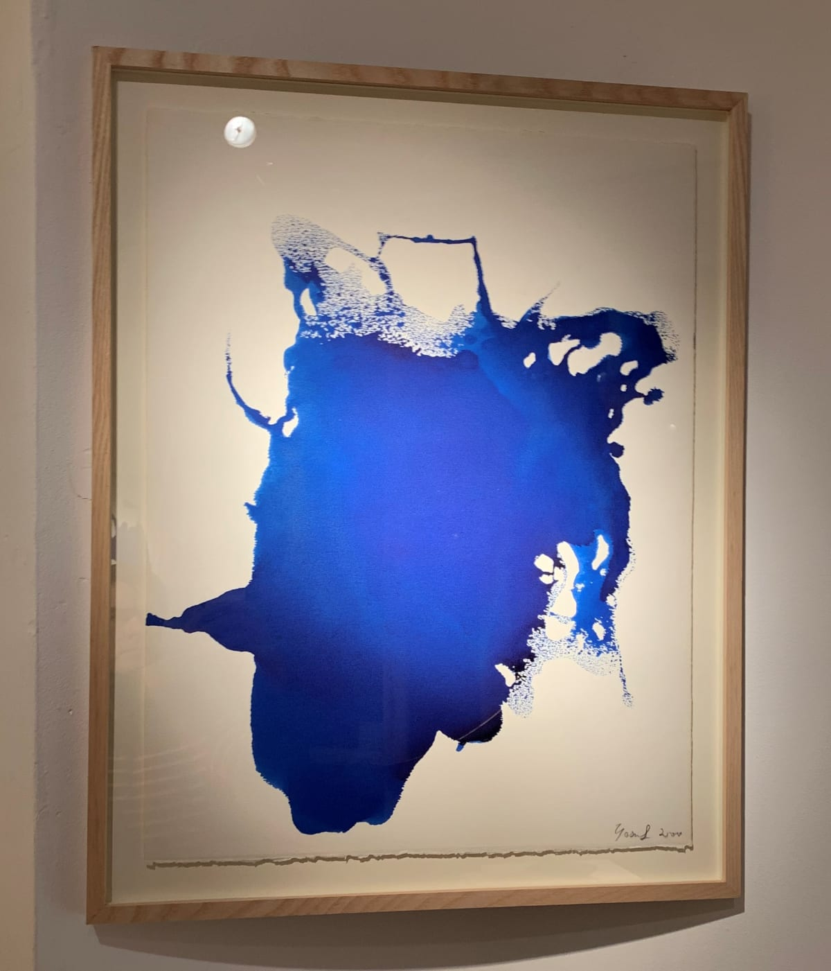 Georges Mathieu Yassef, Blue Ink II, 2000
