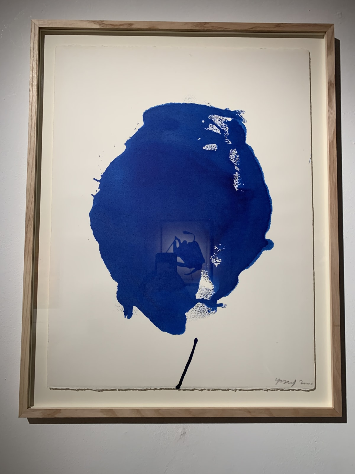 Georges Mathieu Yassef, Blue ink III, 2000