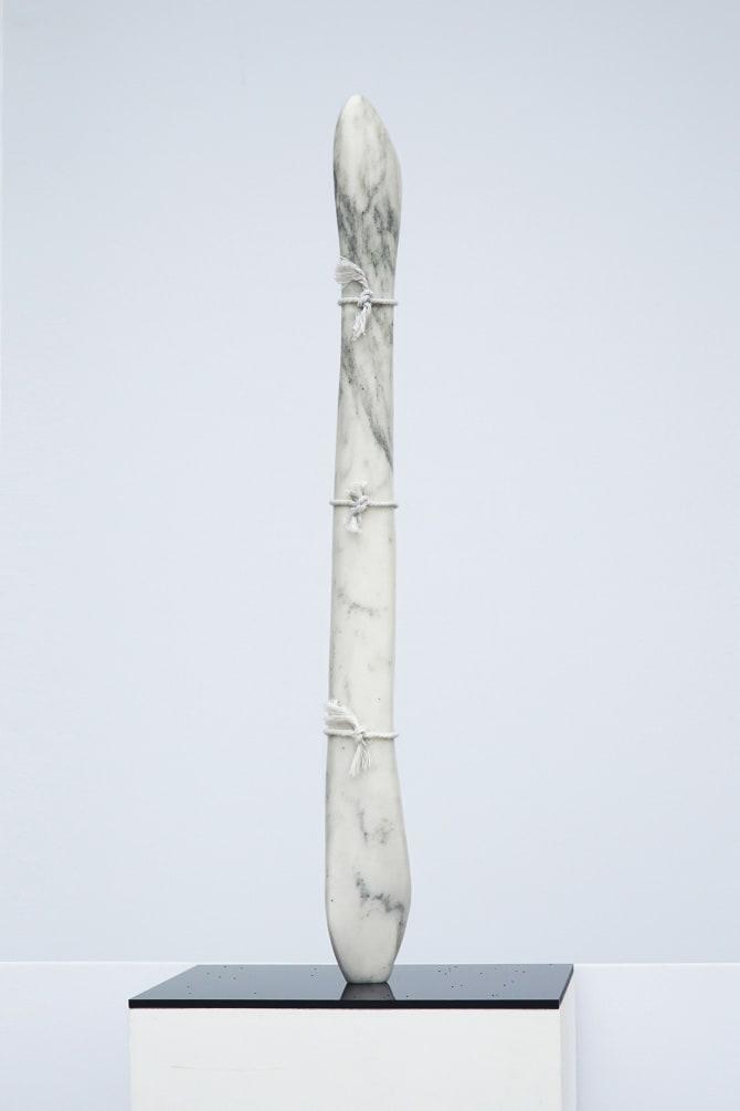 Virginia Lee Montgomery MARBLE PONYTAIL, 2019 Stone, string 15 x 5 x 3 in 38.1 x 12.7 x 7.6 cm