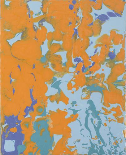 Leah Durner, orangeturquoise pour, 2013