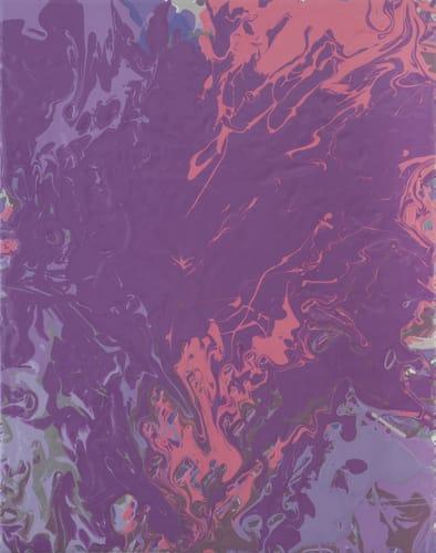 Leah Durner, violetpink pour, 2015