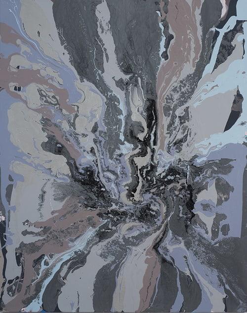 Leah Durner, gunmetalgreybrownblue pour, 2012