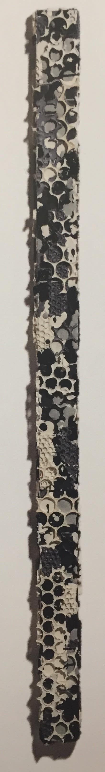 Martin Kline, Black White Grey Collage Stick, 2018