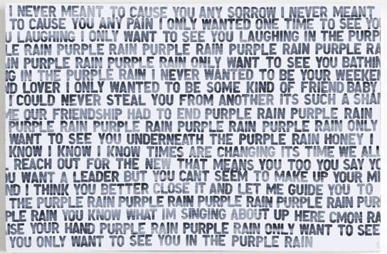 Matthew Heller, Homage to Music, Purple Rain, 2018