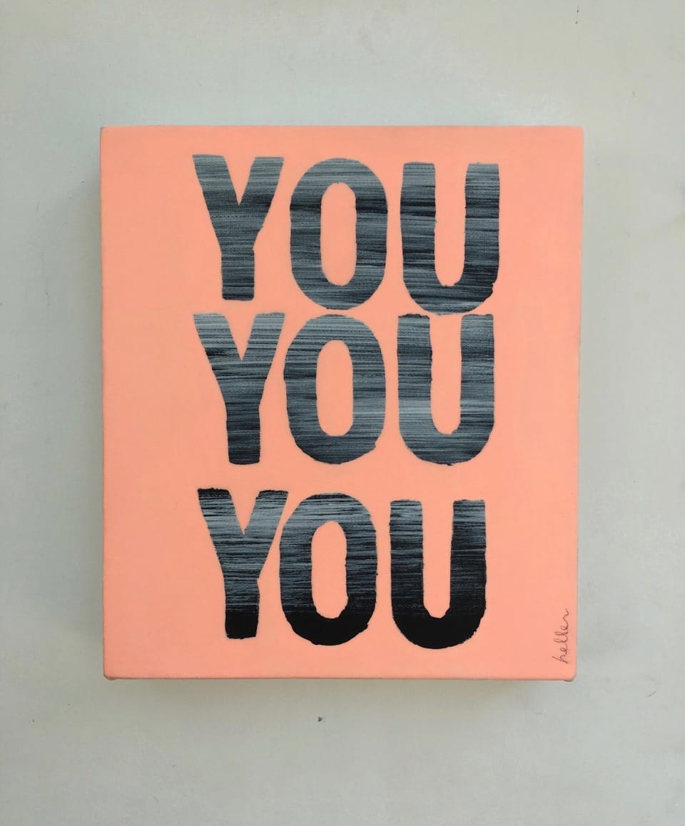 Matthew Heller, You You You (peach), 2016