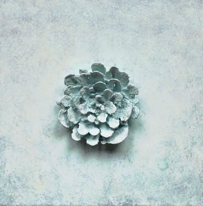 Martin Kline, Bronze Blossom (White), 2012