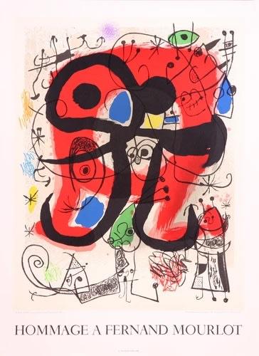 Joan Miro, Le Lézard aux plumes d'or, Hommage à Fernand Mourlot, 1990
