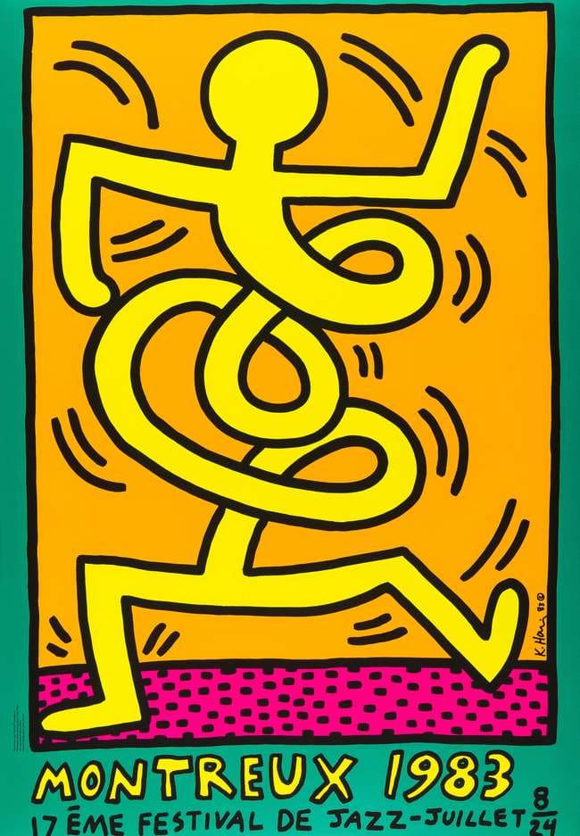 Keith Haring, Montreux 1983 (Prestel 9), 1983
