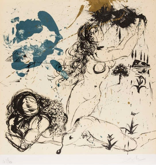 Salvador Dali, The Creation of Eve, 1970
