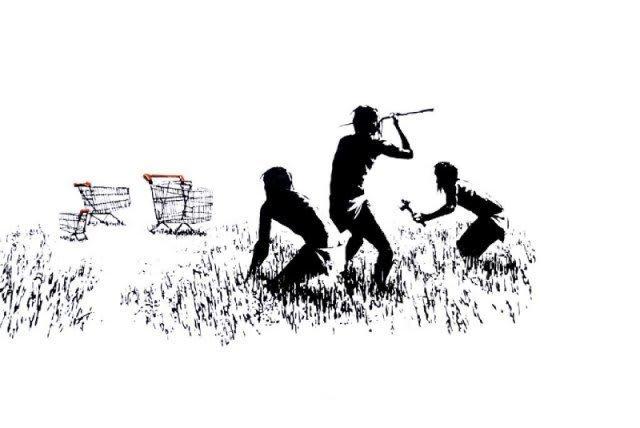 Banksy, Trolley Hunters, 2007