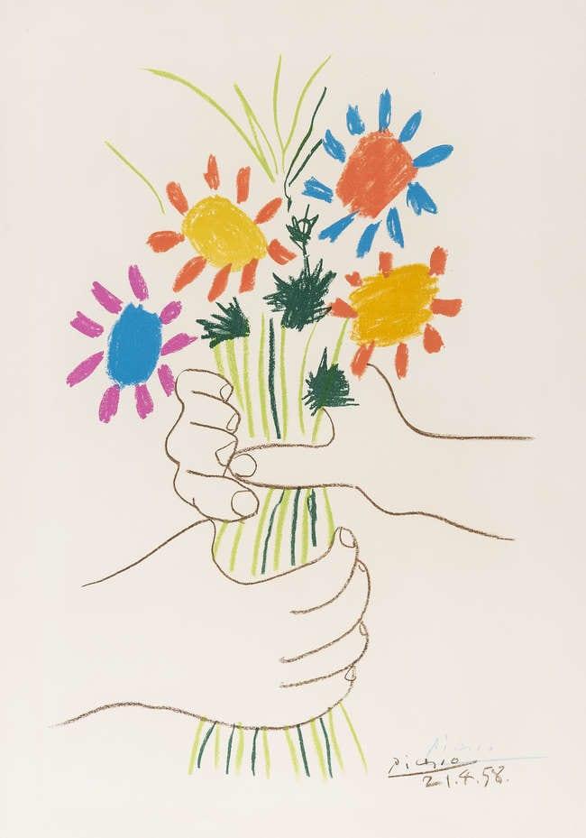 Pablo Picasso, Bouquet of Peace, 1958,