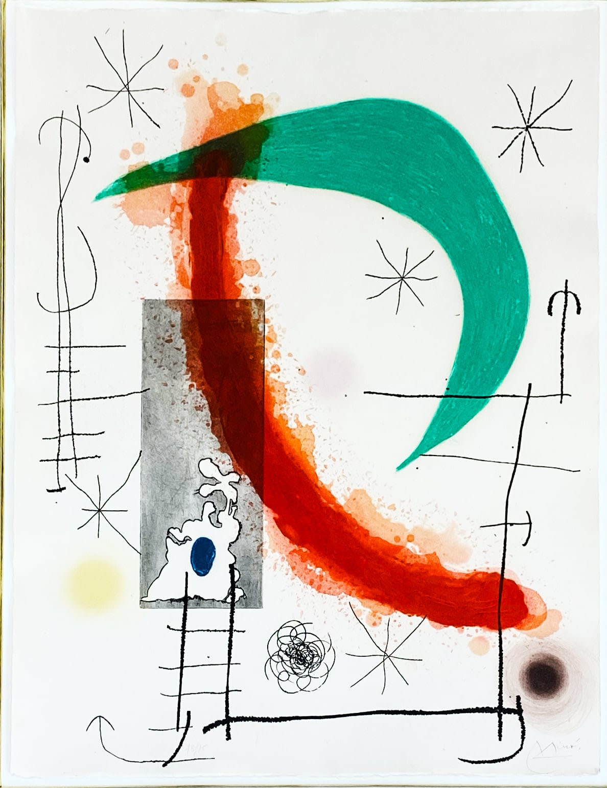 Joan Miro, L'Escalade, 1969