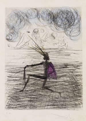 Salvador Dali, Chevalier a Genou, 1968/1969,