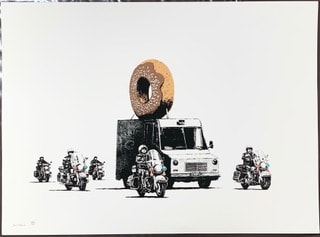Banksy, Donuts (Chocolate), 2009
