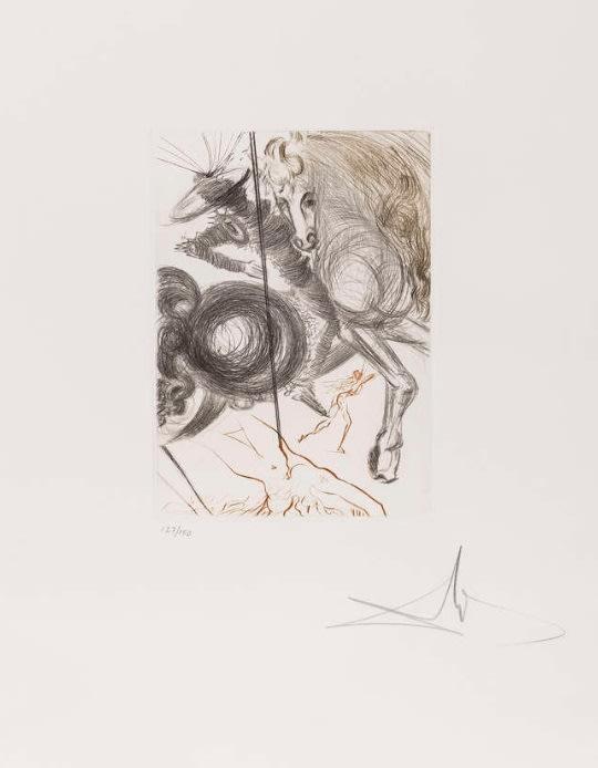 Salvador Dali, L'Enfer des Beautés Cruelles (from Le Decameron), 1972