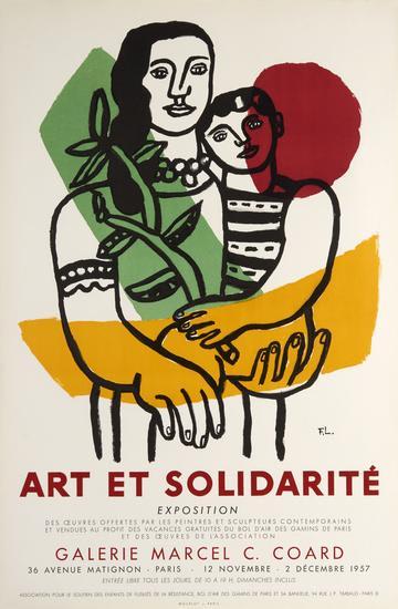 Fernand Leger, Art et Solidarite, 1957