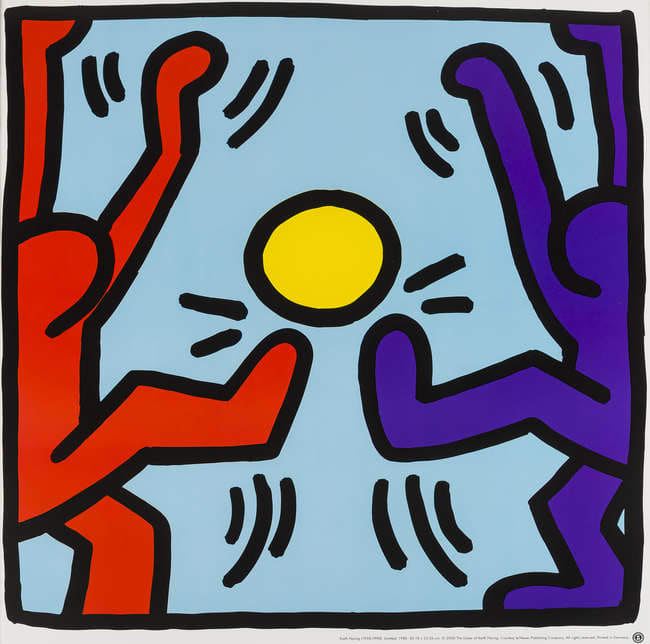 Keith Haring, Untitled (Playing People)