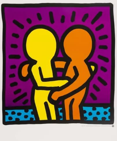 Keith Haring, Untitled (Best Buddies), 1987