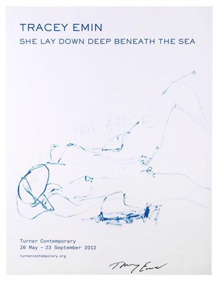 Tracey Emin, She Lay Down Deep, 2012