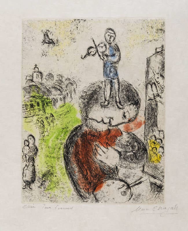 Marc Chagall, Musique, 1981