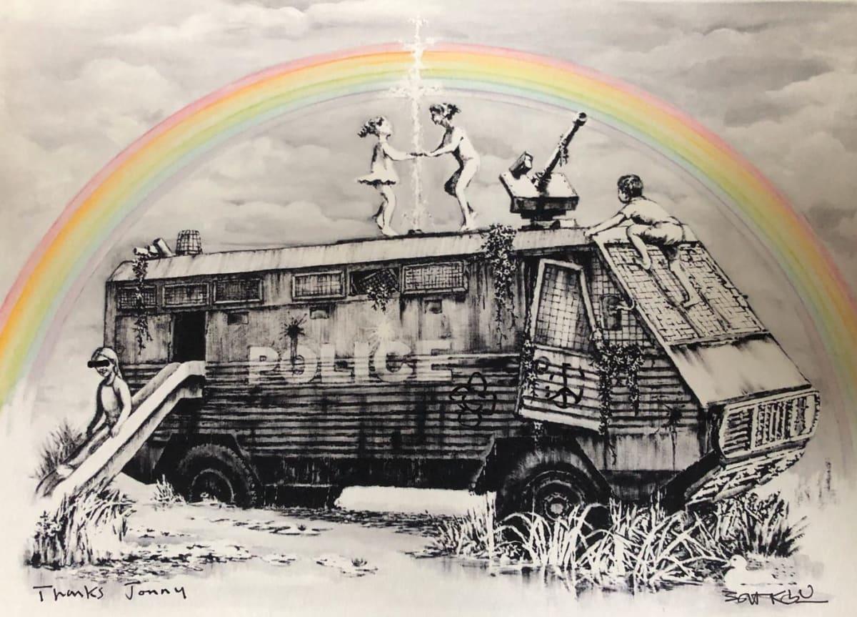 Banksy, Hand signed Riot Van, 2015