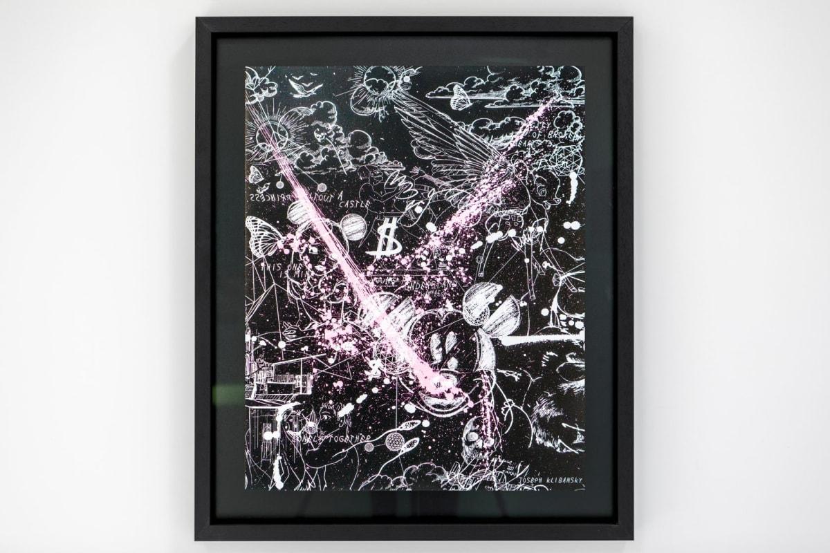 Joseph Klibansky, Caught Up in A Dream (Edition Black/White, Pastel Pink Splash), 2019