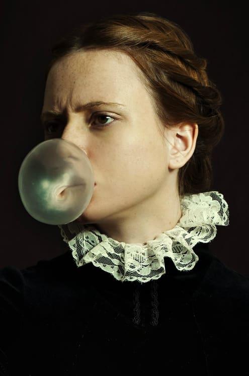 Romina Ressia, Portrait with Bubble Gum